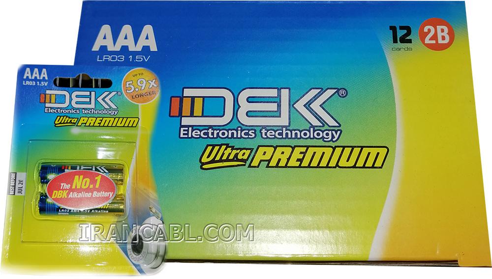 باتری نیم قلمی ultra premium DBK دی بی کی
